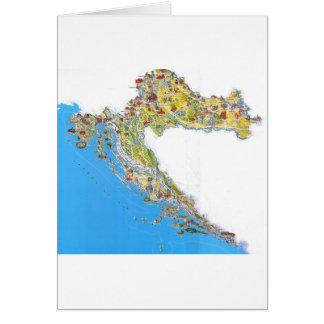 Croatia touristic map, hrvatska turistička mapa card