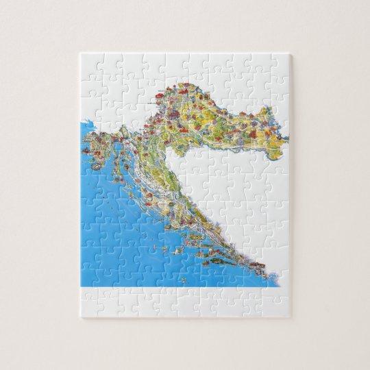 Croatia Touristic Map Hrvatska Turisticka Mapa Jigsaw Puzzle