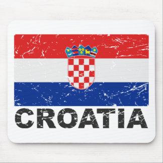 Croatia Vintage Flag Mouse Pad