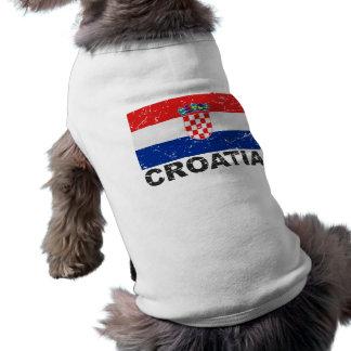 Croatia Vintage Flag T-Shirt
