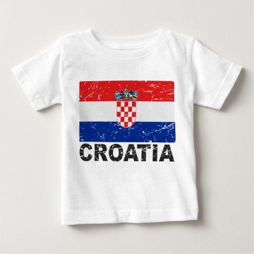 Croatia Vintage Flag Tees