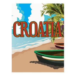 CROATIA vintage travel poster Postcard