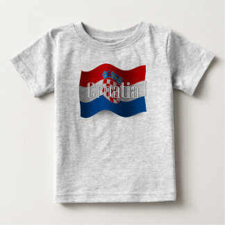 Croatia Waving Flag Baby T-Shirt