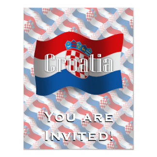 Croatia Waving Flag Card