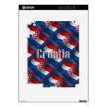 Croatia Waving Flag iPad 2 Decal