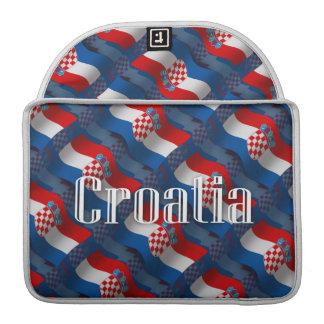 Croatia Waving Flag MacBook Pro Sleeves