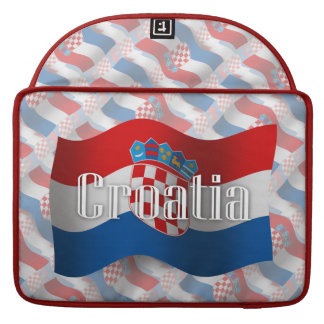 Croatia Waving Flag Sleeves For MacBooks