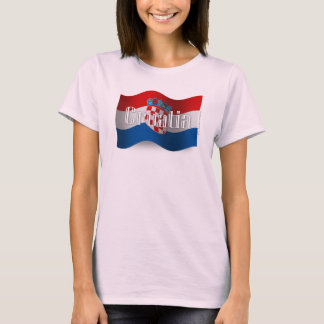 Croatia Waving Flag T-Shirt