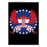 Croatia Winged Card