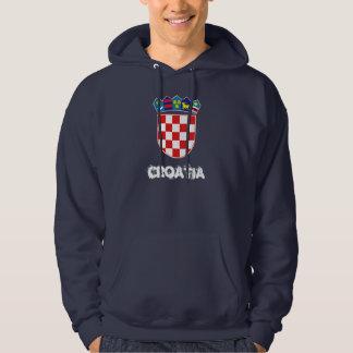 Croatia with coat of arms hoodie