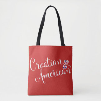 Croatian American Entwined Hearts Grocery Bag