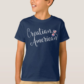 Croatian American Entwinted Hearts Tee Shirt