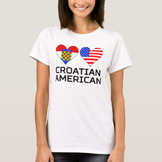 Croatian American Hearts T-Shirt