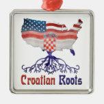 Croatian American Roots Ornament Decoration