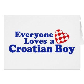 Croatian Boy Greeting Card