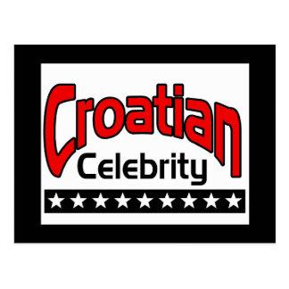 Croatian Celebrity Postcard