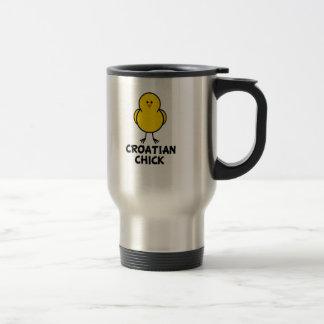 Croatian Chick 15 Oz Stainless Steel Travel Mug
