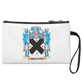 Croatian Coat of Arms - Family Crest Wristlet Clutches