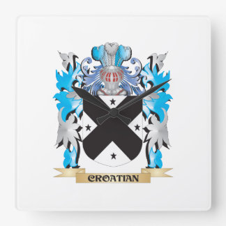 Croatian Coat of Arms - Family Crest Clocks