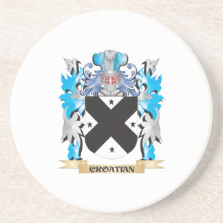 Croatian Coat of Arms - Family Crest Beverage Coaster