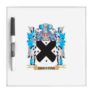 Croatian Coat of Arms - Family Crest Dry-Erase Board