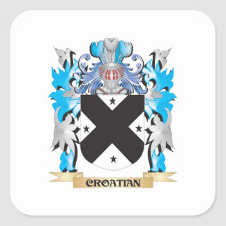 Croatian Coat of Arms - Family Crest Square Sticker