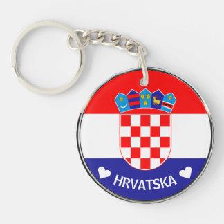 Croatian Coat of Arms | Hrvatski grb w/Text Keychain