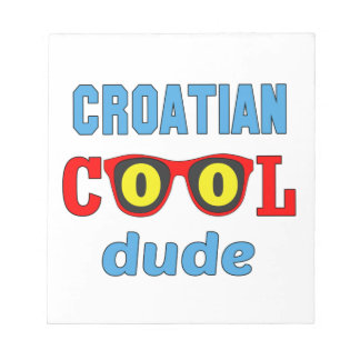 Croatian Cool Dude Notepads