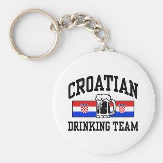Croatian Drinking Team Keychain