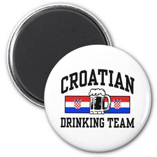 Croatian Drinking Team Refrigerator Magnet