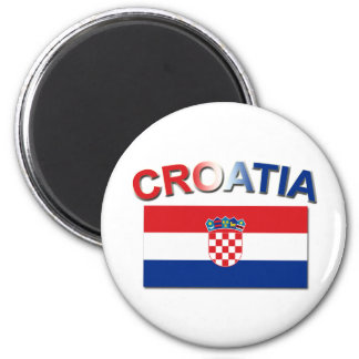 Croatian Flag 2 2 Inch Round Magnet