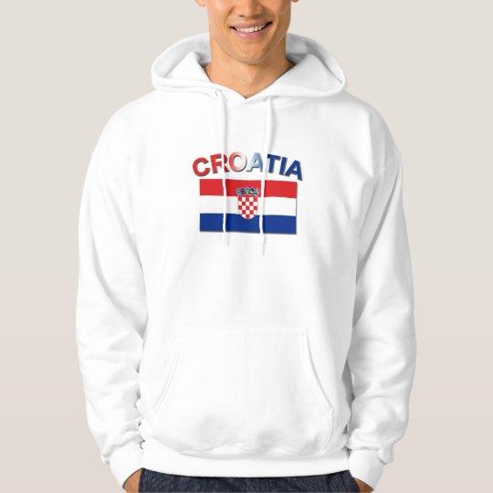 Croatian Flag 2 Hoodie