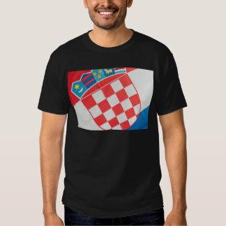 Croatian flag abstract t-shirt