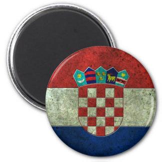 Croatian Flag Aged Steel Effect Magnet