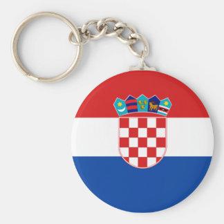 Croatian Flag Basic Round Button Keychain