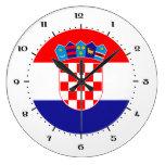Croatian flag clocks