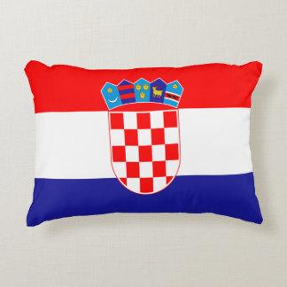 Croatian flag decorative pillow