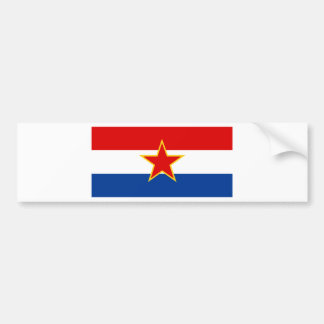 Croatian flag, hrvatska zastava bumper sticker