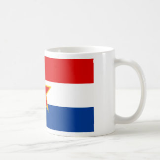 Croatian flag hrvatska zastava coffee mugs
