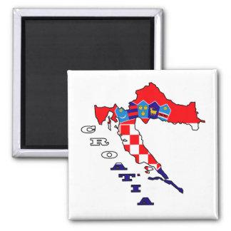 Croatian Flag in Map Magnet