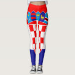 "Croatian flag leggings<br><div class=""desc"">Flag of Croatia,  patriotic pattern</div>"