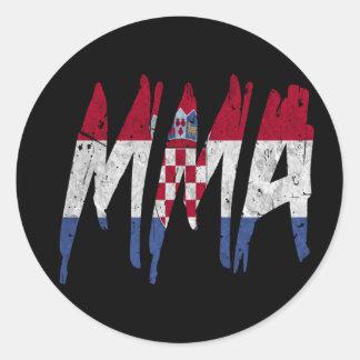 Croatian Flag MMA Classic Round Sticker