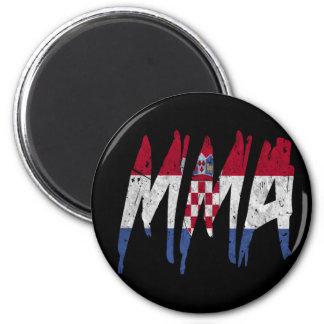 Croatian Flag MMA Fridge Magnets