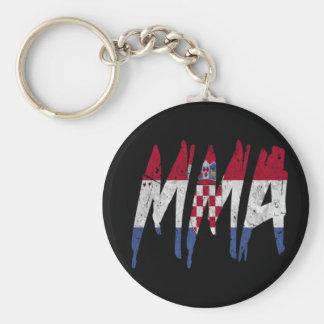 Croatian Flag MMA Keychain