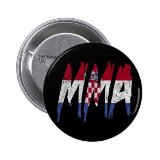 Croatian Flag MMA Pinback Button
