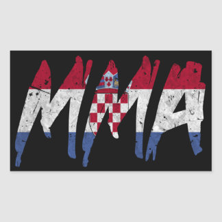 Croatian Flag MMA Sticker