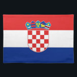"Croatian Flag on MoJo Placemat<br><div class=""desc"">Elegant Placemats with Flag of Croatia.  This product its customizable.</div>"