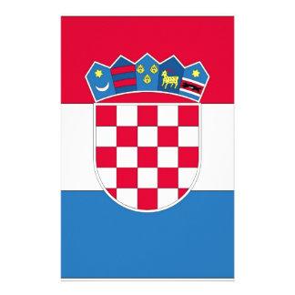 Croatian Flag or Flag of Croatia Customized Stationery