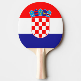 Croatian flag ping pong paddle for table tennis ping pong paddle