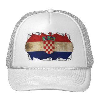 croatian flag ripped trucker hat